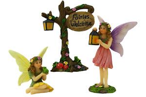 Fairy Garden Fairies & Fairy Sign