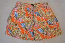 Vilebrequin Orange Coral Fish Sea Print Mens Swimming Shorts Trunks Mens Large L
