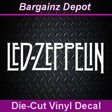 Vinyl Decal ... LED ZEPPELIN ... Band Car Laptop Sticker Vinyl Decal