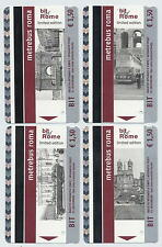 BIT METREBUS Of ROME Limited Edition - 4 validated bus metro ROMA ticket set