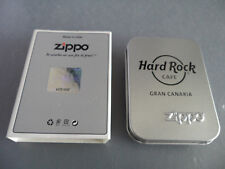 Hard Rock Cafe Gran Canaria - Zippo Lighter - Polished Silver Chrome - AUTHENTIC