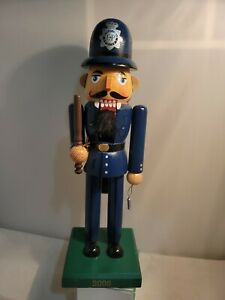 2008 Limited edition wooden nutcracker from target Stores police bobby