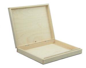Holzbox  Holz-Kassette (innen Größe A4) BOX unbehandelt