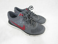 Nike Flex 2015 709022-002 Running Men's Athletic Shoes Size 9.5 Gray Marron/Red