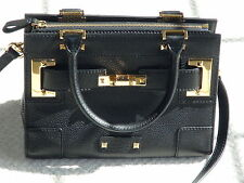 Valentino Garavani Small Double Handle Evening Bag Black Leather Removable Strap