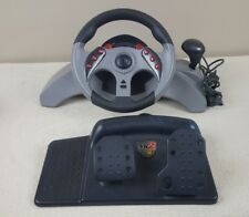 1999 Mad Catz MC2 Racing Steering Wheel w/ Pedals for PS1/PS2 PlayStation 2