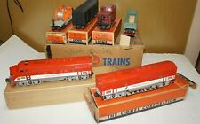 1954 LIONEL O-GAUGE #1517W SET 2245P 2245C TEXAS SPECIAL FREIGHT CARS WITH BOXES