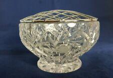 Beautiful Vintage Small Cut Glass / Crystal Rose Bowl (Diameter -10 cm)