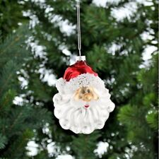 Vintage Father Christmas Santa Head Glass Decoration - Collectable Tree dec