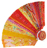 FreeSpirit Kaffe Fassett Classic Citrus 40PC Jelly Roll Cotton Quilting Fabric