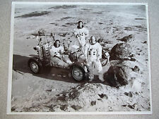 Apollo 16 Vintage NASA Photo of Training on Lunar Roving Vehicle (LRV)