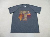 Adidas Cleveland Cavaliers Shirt Adult 2XL XXL Gray Red NBA Basketball Mens A35