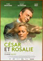 Plakat CESAR Und Rosalie - Claude Sautet Romy Schneider Yves Montand 40x60cm