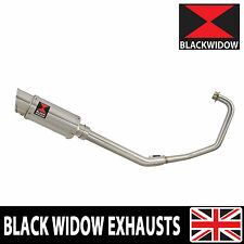 Keeway RKV 125 2012-2017 Exhaust System + 200mm Round Stainless Silencer 200SS