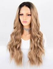 Persephone Soft Blonde Ombre Lace Front Wig 2 Tones Long Wavy Wigs for Women