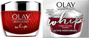 Olay REGENERIST Whip Light As Air Touch Active Moisturiser CREAM 50ml