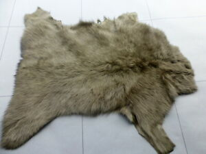 sheepskin leather hide Olive Green Long Silky Toscana Silky Hair w/Smooth back