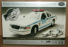 1/24 Scale 2000 Ford Police Interceptor Sedan Metal Model Kit NYPD Testors 2150