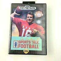 Joe Montana II Sports Talk Football (Sega Genesis, 1991) No Manual