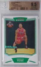 2008-09 BOWMAN CHROME ROOKIE CARD REFRACTOR #111: DERRICK ROSE #/499 RC BGS 9.5
