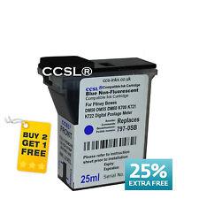 BLUE 797-0SB Pitney Bowes K700 K721 K722 Franking Machine Ink BEST COMPATIBLE