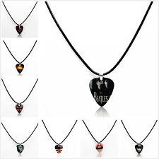 Fine Fashion 1pcs Noctilucence Necklace Leather Chain Guitar Pick Necklace