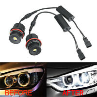 2Pcs 80W Angel Eyes LED Halo Ring Light Bulbs For BMW E63 E53 E39 E87 E83 M5 M6