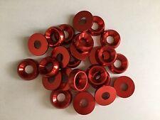 KART Confezione Da 25 x M8 x 21mm CSK RONDELLA SVASATA Rosso Parti Nuovo di Zecca KART UK