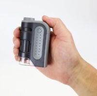 Carson MicroBrite Plus Pocket Microscope LED Light 60x-120x Aspheric Lens MM-300