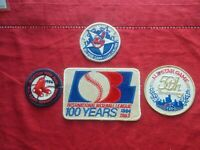 VINTAGES PATCHES BASEBALL 1980's-(4)RED SOX/INDIANS/WHITE SOX/INTERNATIONAL