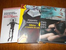 LOTTO 2 LIBRI & DVD RITUAL LA DANZA DELLA RELTà ALBINA alejandro jodorowsky