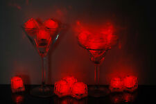 Set of 12 Litecubes Brand 3 Mode RED Light up LED Ice Cubes