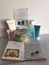 Clarins 5 Piece Skincare Set ~ With Makeup/Jewelry Pouch ~ No Exfoliator ~ NEW