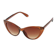 Brown Fashion Womens Retro Vintage Shades DESIGNER Cat Eye Sunglasses