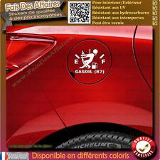 sticker autocollant jauge essence gasoil diesel sp-95 sp-98 trappe réservoir