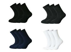 Pack of 3 ,6,12 Pairs Boys Girls Kids Rich Plain Cotton Socks Suit School Socks