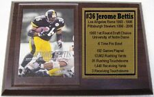 Pittsburgh Steelers Jerome Bettis Skybox Football Card Plaque