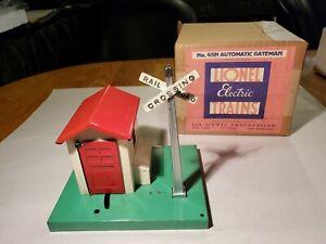 Vintage Lionel P War 0/027 # 45N Auto Gateman In Excellent Shape/Org Box Nice!