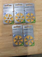 Power One Mercury Free Hearing Aid Batteries-P10 (5 Packs 30 Batteries)Exp 02/21
