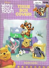 Winnie the Pooh Tissue Box Covers  ~  plastic canvas soft cover book