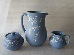 MEGA RARE Gorgeous Denver White Pottery Set Colorado Arts & Crafts Signed
