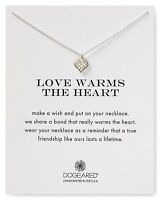 """DOGEARED $48 Sterling Silver 18""""  Love Warms the Heart Necklace NWT/NIB !"""