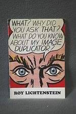 ROY LICHTENSTEIN, 1969 Guggenheim Musuem Art Show Catalogue, 4000 print