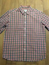 Levis Strauss Mens Long Sleeve Shirt .. Large .. L .. Red Blue & White Check