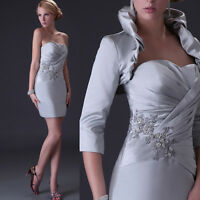 Mother of the Bride Formal Cocktail Evening Dress Wedding Party Prom Ball Short