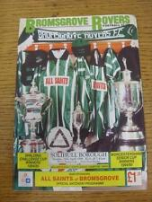 16/04/1996 Worcestershire Senior CUP SEMIFINALE REPLAY: bromsgrove Rovers V soli