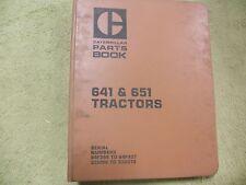 Caterpillar 641, 651 64F,33G Cat Tractor Manual Service Parts Book