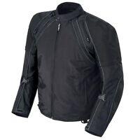 Mens Motorcycle Waterproof Jacket Armoured Cordura Textile Motorbike Top Black