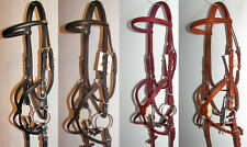 FSS German Posh Mexican Grackle Figure 8 Padded Poll Comfort Bridle Rubber Reins