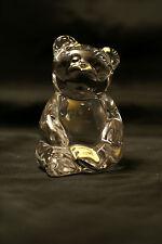 Teddy Bear Clear Lead Crystal Paper Weight